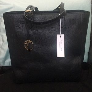 🌻Authentic NWT VERSACE Blck & Silver Leather Tote
